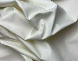 "Natural White 100% Cotton Liner Fabric Canvas Duck 64"" Wide"
