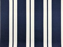 Richloom Navy Blue White Stripe Outdoor Canvas Water Resista