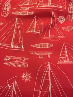NEW Solarium OUTDOOR CANVAS Fabric By the Half Yard Windjamm