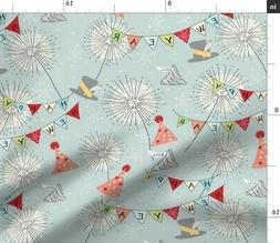 new year years eve traditions fabric printed