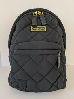 NWT Marc Jacobs Quilted Nylon Backpack Black # M0011321-001