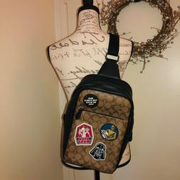 NWT COACH X STAR WARS WESTWAY PACK IN SIGNATURE CANVAS WITH