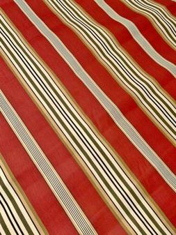 Richloom Outdoor Canvas Fabric - Brick Red Stripe - BTY