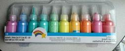Creatology Pastel 3D Glitter Paints Fabric Canvas Wood and O