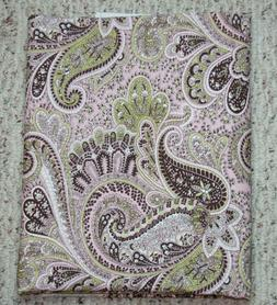 Pink Brown Paisley Fabric Lightweight Canvas Like Green Flor