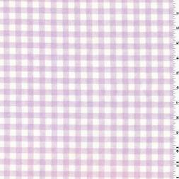 Pink/Lilac Ombre Gingham Print Cotton Canvas Decor Fabric, F