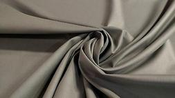 "Pure Cotton Canvas Duck Fabric Pewter Gray By The Yard 56""W"