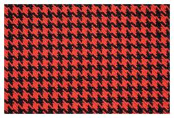 """Red and Black Houndstooth Canvas Tweed Fabric 55""""W Seat Upho"""