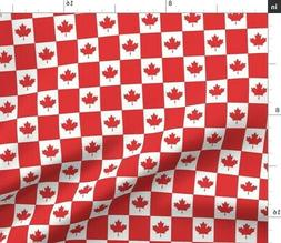 Red And White Canadian Flag Home Decor Canada Fabric Printed