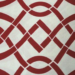 Richloom Red White/Cream Rope Fabric Upholstery Decor Canvas