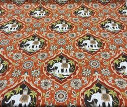 Sanaya Elephants Paprika Orange Swavelle Mill Creek Fabric B