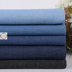 Soft 100% Cotton Washed Denim Fabric Canvas Jeans Dress Quil