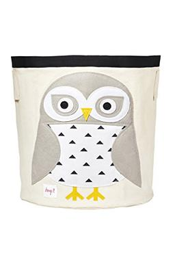 3 Sprouts Canvas Storage Bin - Laundry and Toy Basket for Ba