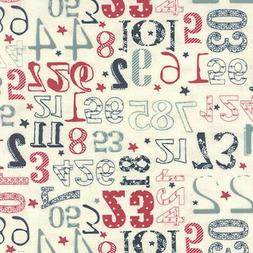 Moda Sweetwater The Boat House Crew Numbers Canvas Fabric Va