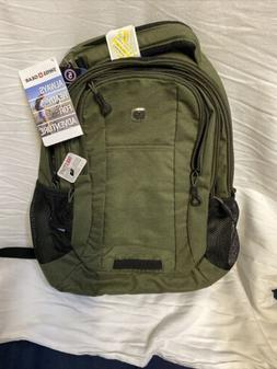 """Swiss Gear 18"""" Backpack Olive - Brand New"""