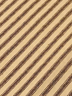 Ticking Fabric Brown Natural Woven Canvas Twill 1.47 Yards L
