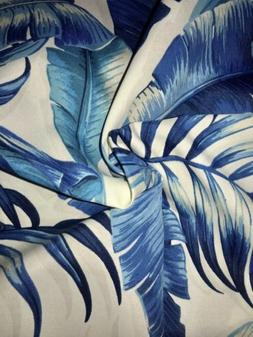 """Tommy Bahama Tropical Leaves Outdoor Canvas NEW 56"""" Wide,"""