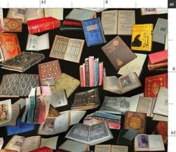 Vintage Books Victorian Loita Photography Fabric Printed by