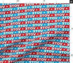 Vote Red White And Blue Election Usa Fabric Printed by Spoon