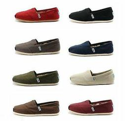 TOMS Women's CLASSIC Solid Canvas Slip on flats shoe's US Si